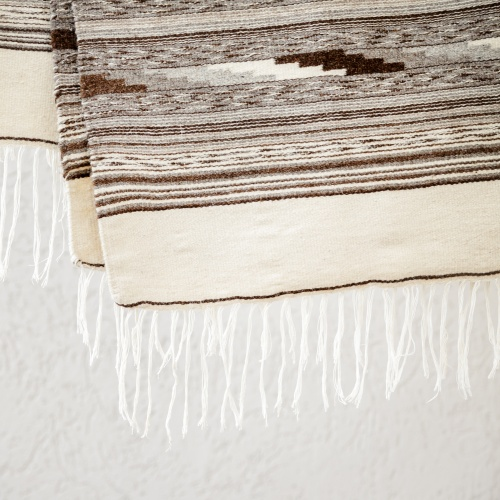 "Wool rug ""Dovetail"", white"