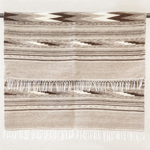 "Wool rug ""Dovetail"", gray, III"