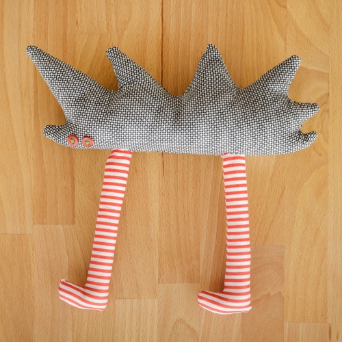 Tall Hedgehog Cub, textile toy