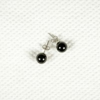 Earrings with Obsidian