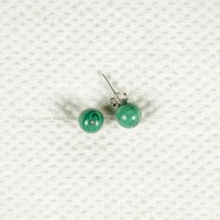 Earrings with Malachite