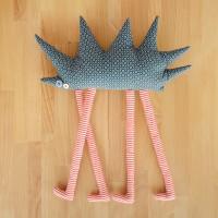 Tall hedgehog, textile toy