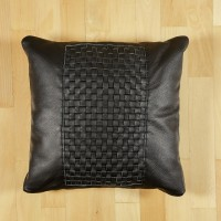 Leather decorative pillow