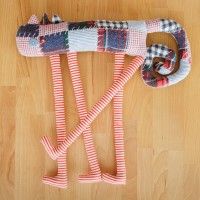 Tall cat, textile toy