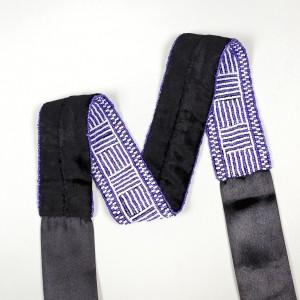 Handmade belt sewn with glass beads