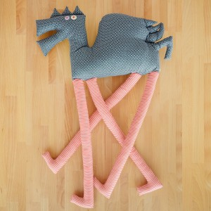 Extremely Tall Winged horse, textile toy