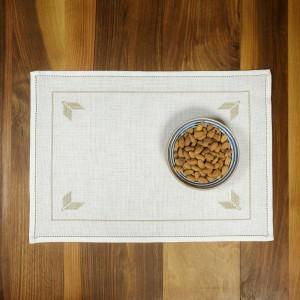 Handmade placemat, beige