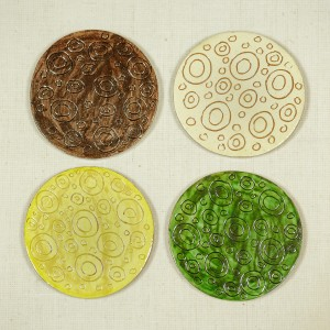 "Handmade coasters, ""Essentially Heavenly"" Collection"