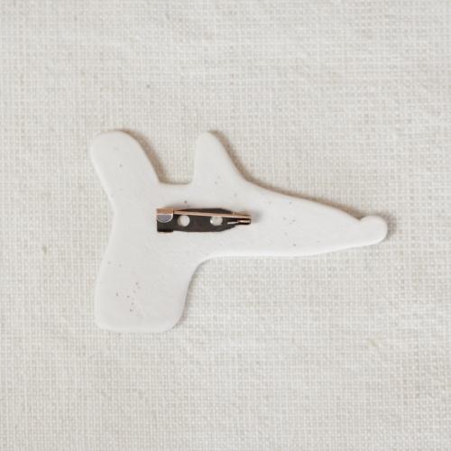 Handmade porcelain brooch