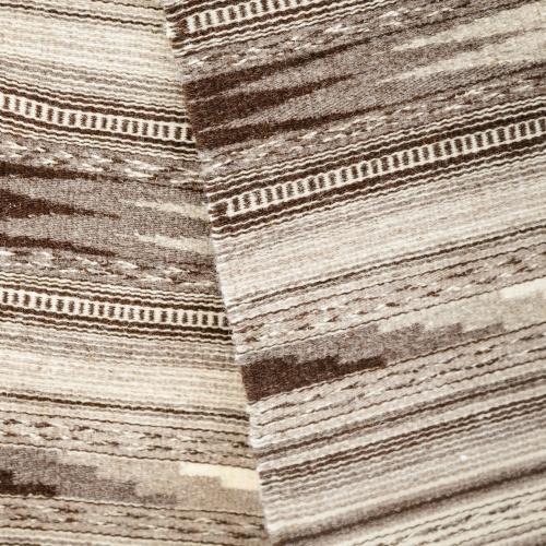 "Wool rug ""Dovetail"", gray, II"