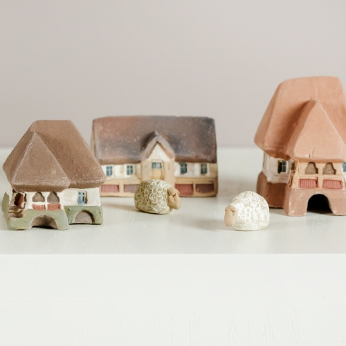 Miniatural ceramic rural village