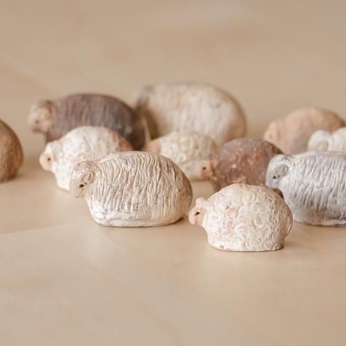 Handmade miniatural ceramic sheep