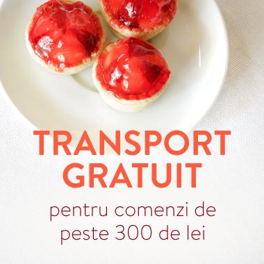 Transport gratuit pentru comenzi în valoare de 300 RON