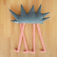 Tall hedgehog, textile toy
