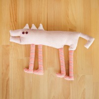 Small dog, textile toy