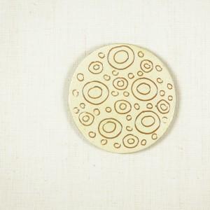 Handmade ceramic coaster