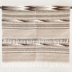 "Wool rug ""Dovetail"", gray, III"