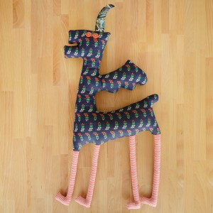 Extremely Tall Inorog, textile toy