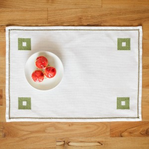Handmade placemat, green