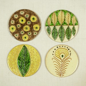 "Handmade coasters, ""Man-Nature Relationship"" Collection"