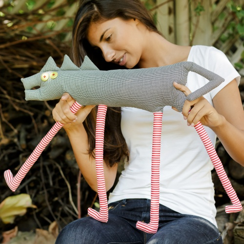 Tall dog, textile toy