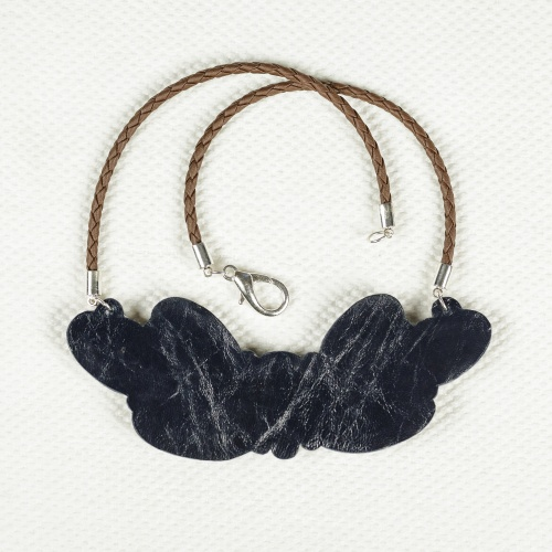 Glass and Leather Necklace