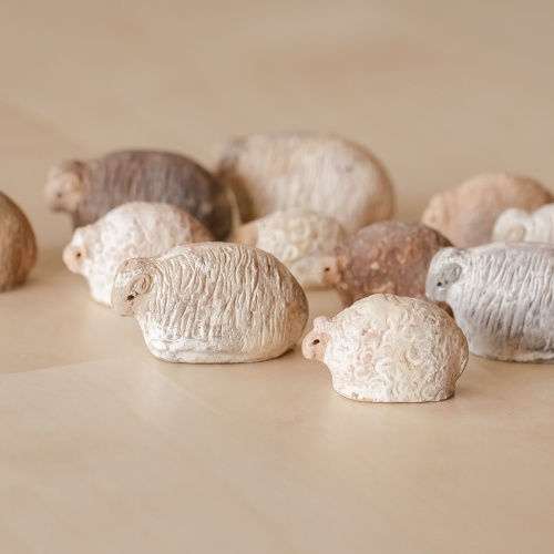 Handmade miniatural ceramic sheep