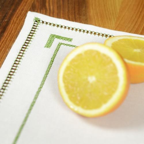 Handmade placemat, green
