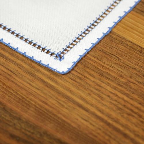 Handmade placemat, blue