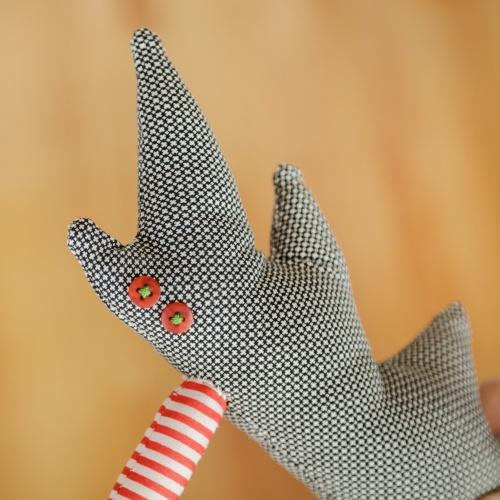 Tall Hedgehog Cub, textile toy
