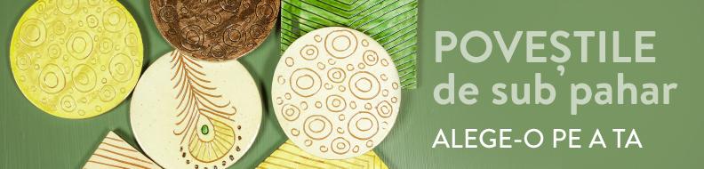 Suporți pahare din ceramică